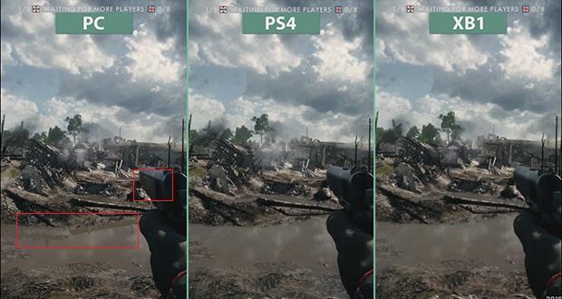 Battlefied 1 - Comparatif entre les versions PC, PS4 et Xbox One