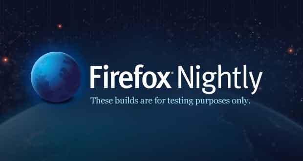 Navigateur Firefox Nightly