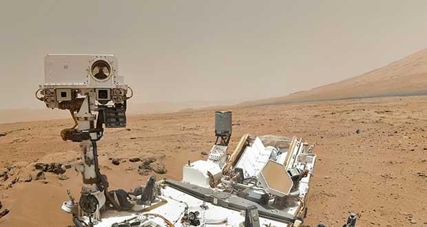 Auto-portrait du rover Curiosity sur Mars