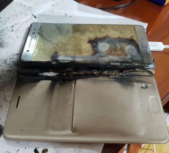 Galaxy Note 7 – Incendie lors de la charge de sa batterie