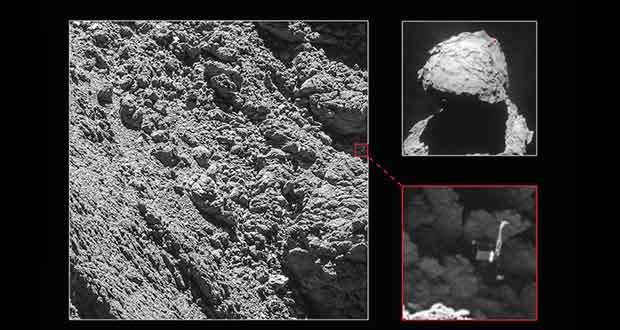 Le petit robot Philae a été retrouvé sur la comète 67P/Churyumov-Gerasimenko.