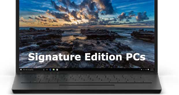 Signature Edition PCs de Microsoft