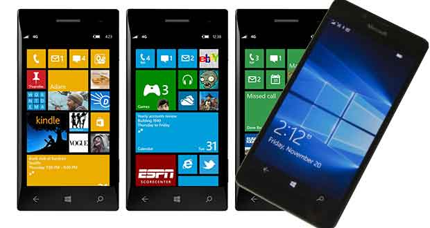 Smartphones Windows Phone - Windows 10 Mobile