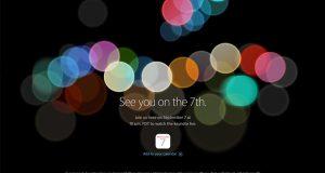 Keynote Apple du 7 septembre 2016 - Invitation