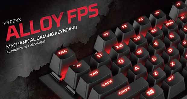 Clavier gaming HyperX Alloy FPS de Kingston