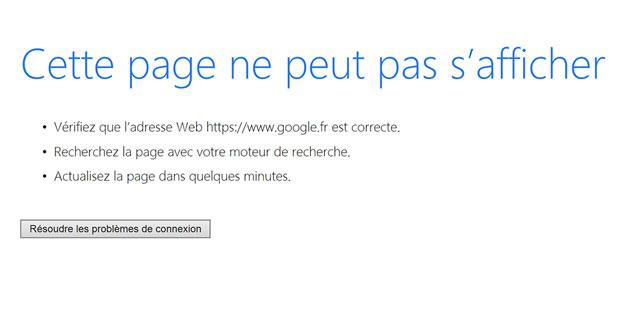 Orange - Google echec de chargement