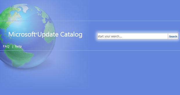 Site Web Microsoft Update Catalog
