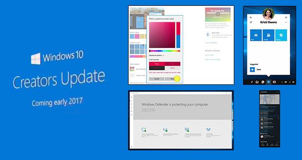 Windows 10 Creators Updates - les nouveautés