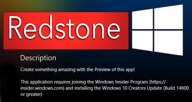Windows 10 Redstone 2 alias Windows 10 Creators Update