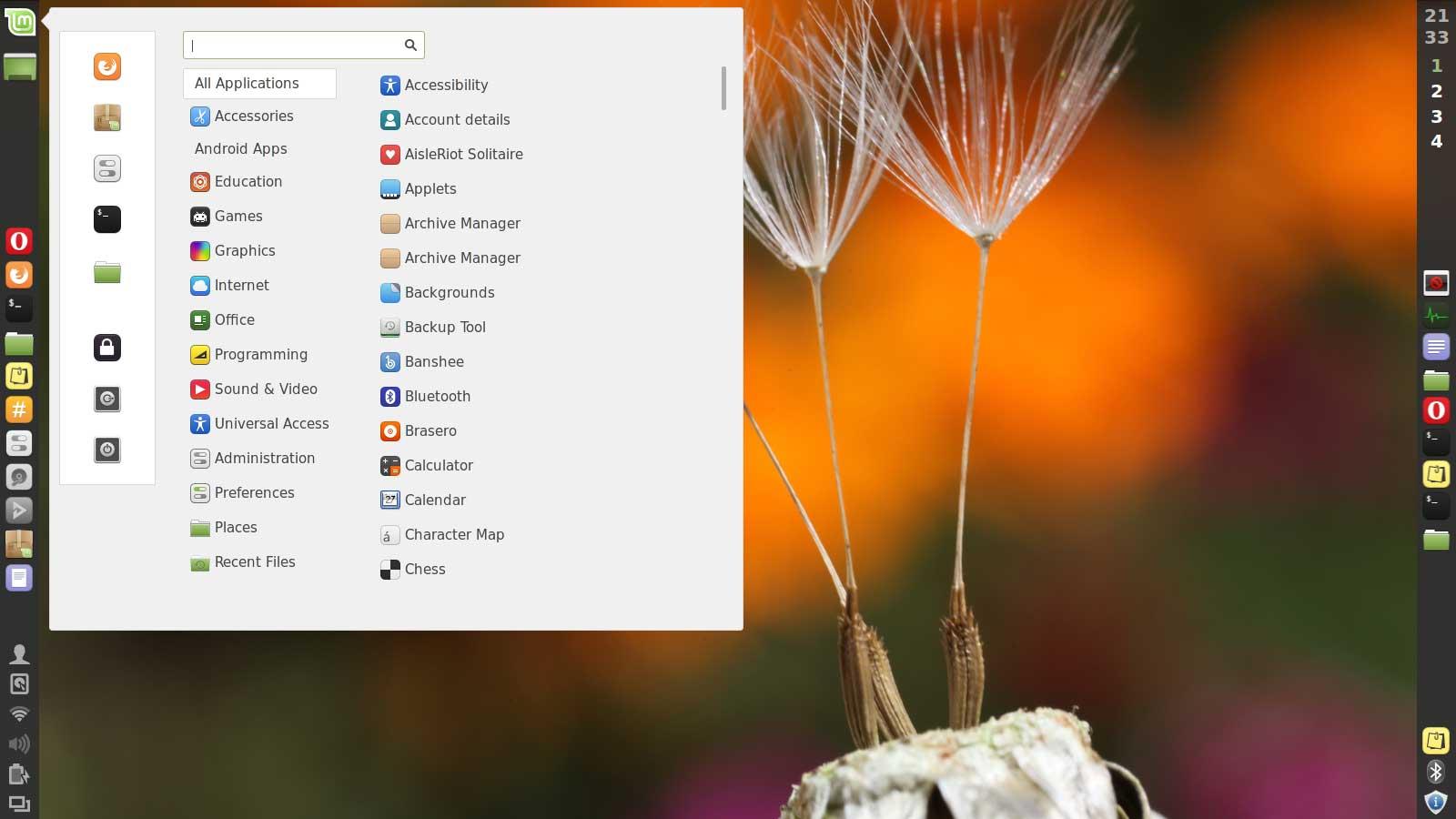 Ubuntu l environnement de bureau cinnamon desktop est