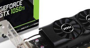 Carte graphique GeForce GTX 1050 Ti 4GT LP de MSI
