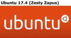 Distribution Linux Ubuntu 17.4 (Zesty Zapus)
