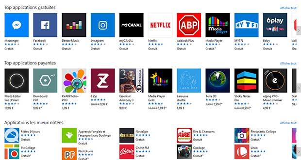 Boutique en ligne de Microsoft - Le Windows Store