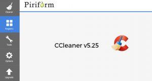Application CCleaner de Piriform