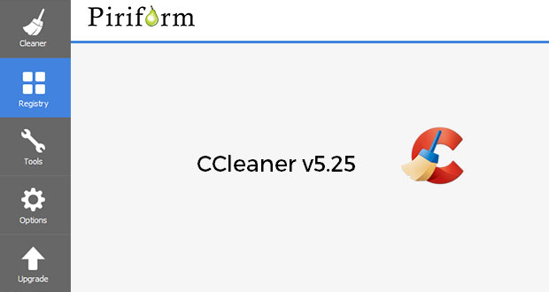 Application CCleaner de Piriform