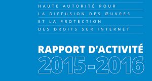 Hadopi - Rapport d'activité 2015 - 2016