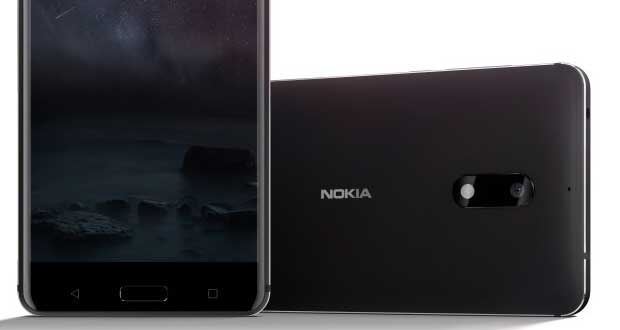 Smartphone Nokia 6 sous Android 7 Nougat