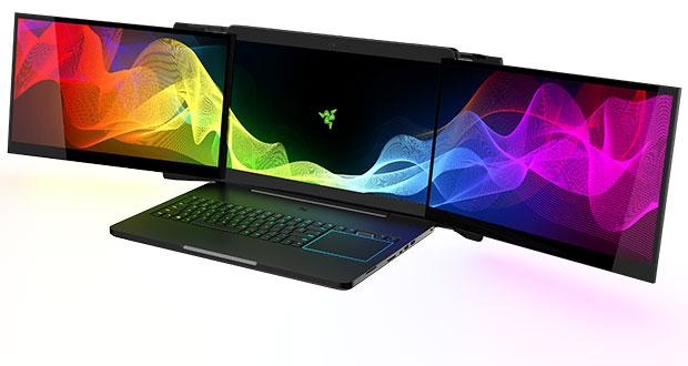 Project Valerie de Razer - Un ordinateur portable gaming équipé de trois écrans 17 pouces 4K