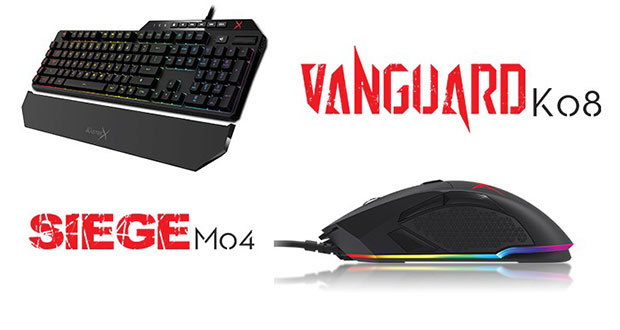 Clavier gaming Creative Sound BlasterX Vanguard K08 et Souris gaming Creative Sound BlasterX Siege M04