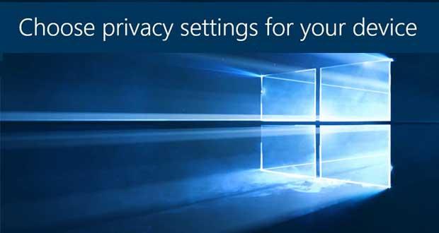 Windows 10 - Nouveau panneau de contrôle pour la protection de ses données personnelles
