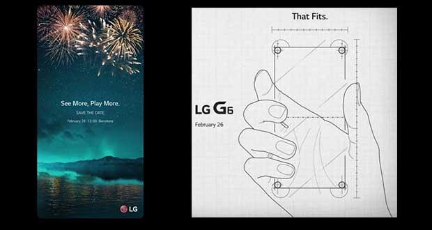 Smartphone LG G6 - Invitation pour son lancement au MWC 2017