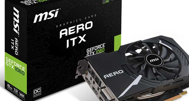 Carte graphique MSI Aero ITX GeForce GTX 10xx