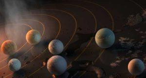 L'étoile Trappist-1 et son cortège de sept planètes