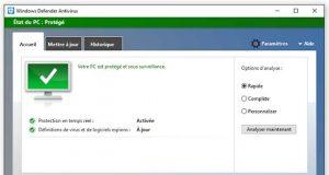 Windows Defender Antivirus de Microsoft