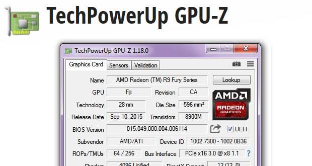 Application GPU-Z - Connaitre en détail sa carte graphique