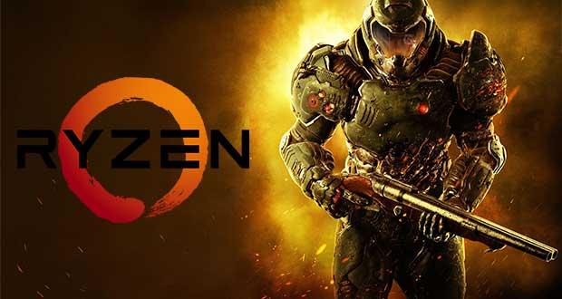 Gameplay en 1440p / Ultra sous Doom - Processeur AMD Ryzen 7 1800X