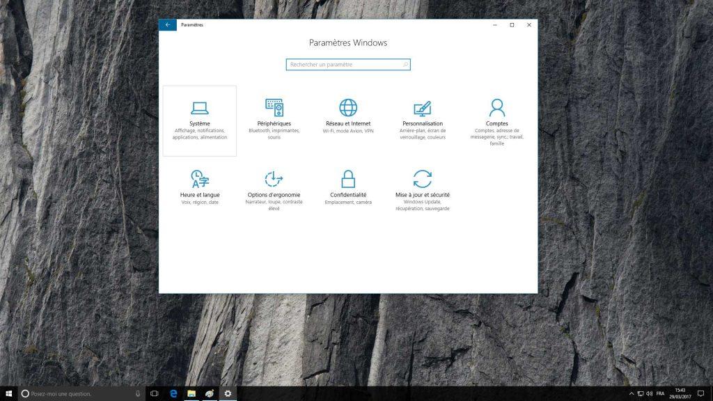 Windows 10 et les informations système