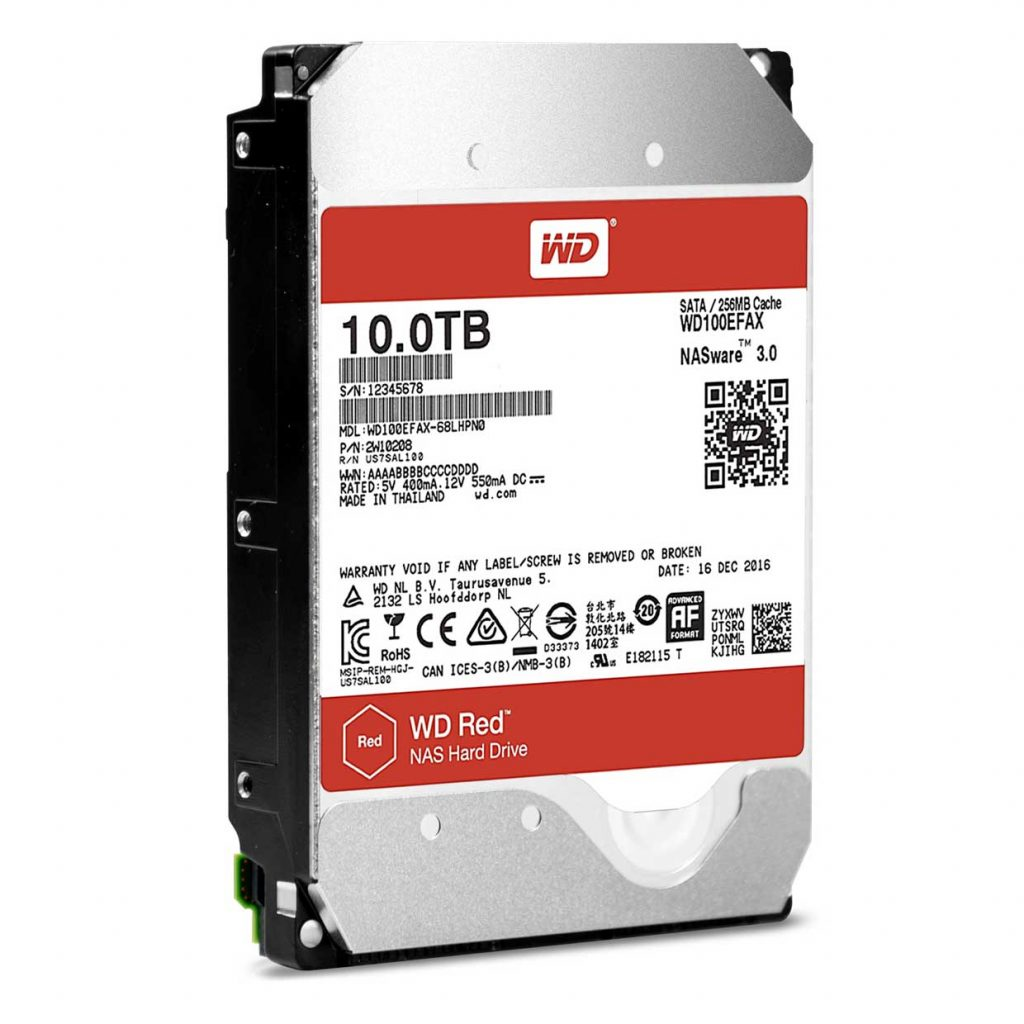 Disque dur WD RED 10 To, référence WD100EFAX