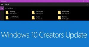 Windows 10 Creators Update - la version UWP de l'Explorateur de fichiers