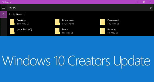 Windows 10 Creators Update - la version UWP de l'Explorateur de fichiers