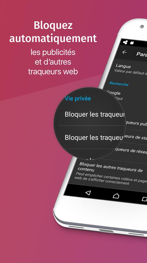 Navigateur Android Firefox Focus