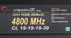 Kit Trident Z DDR4-4800MHz CL19 16GB (2x8GB) de G.Skill