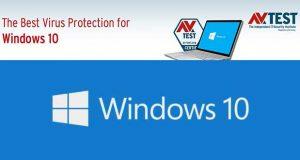 Le meilleur antvirus pour Windows 10 - AV-Test