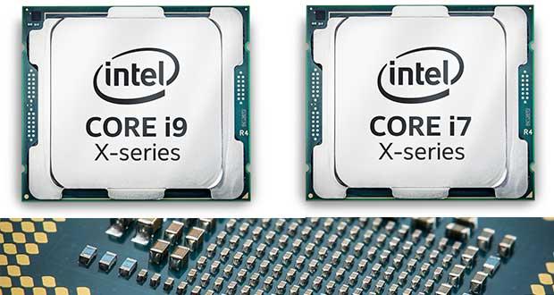 Processeurs Intel Core i7 et Core i9 X-series