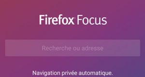 Navigateur Firefox Focus de Mozilla