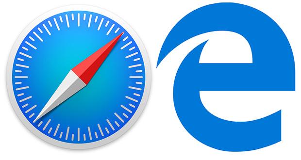Navigateurs Safari d'Apple et Microsoft Edge