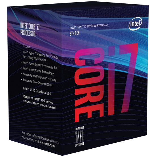 Processeur Intel Core i7 Coffee Lake