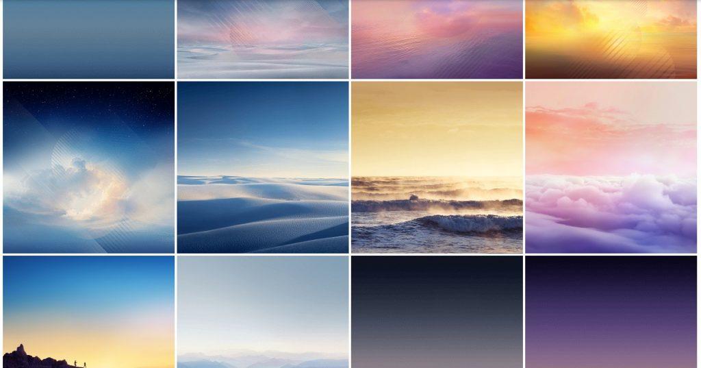 Galaxy Note 8 - les différents fonds d'écran préinstallés