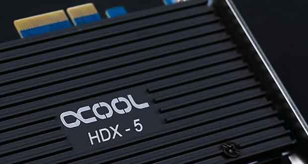 Carte PCI Express 3.0 x4 HDX-5 d'Alphacool