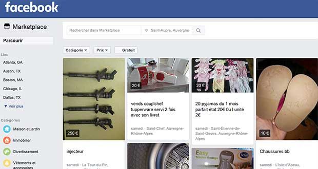MarketPlace de Facebook