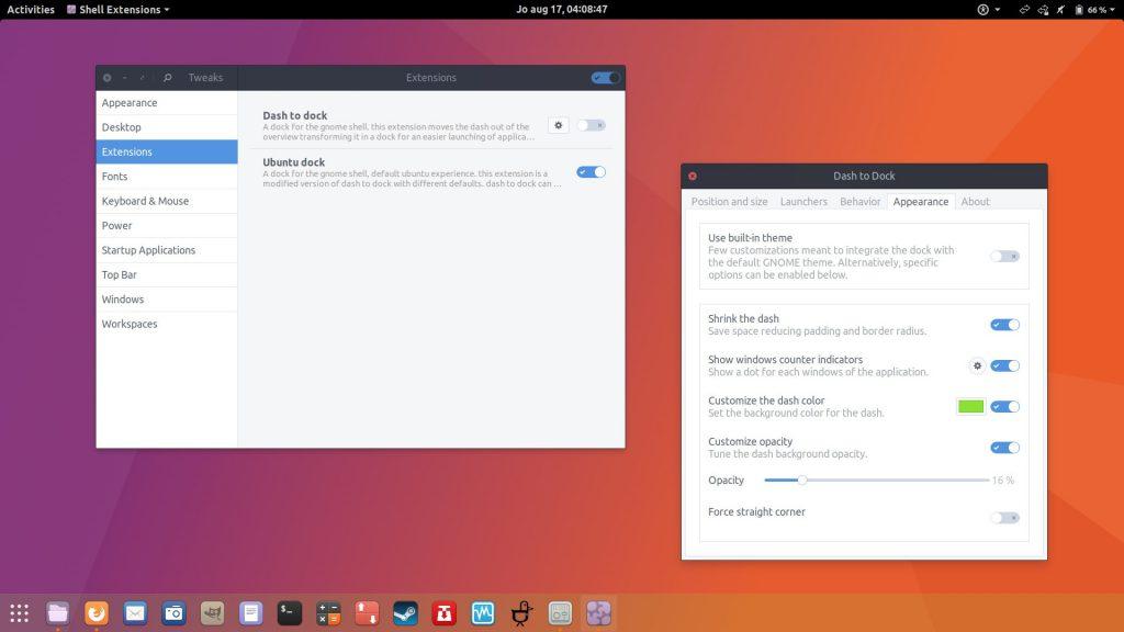Ubuntu Dock - Distribution Linux Ubuntu de Canonical