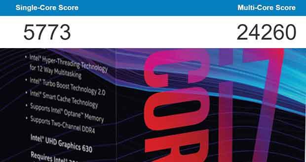 Geekbench - Performances du Core i7-8700K