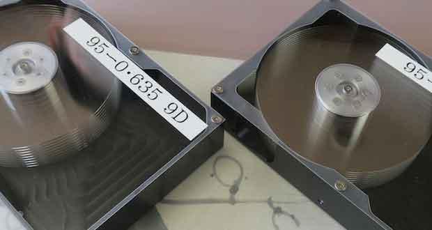 Hoya – Prototype de disque dur 3,5 pouces avec des plateaux à base de verre