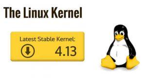 Linux, la version stable du noyau 4.13 est disponible en téléchargement