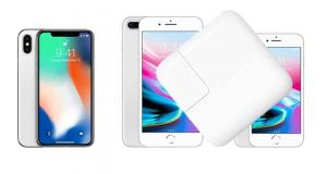 Smartphones Apple iPhone 8, iPhone 8 Plus et iPhone X - le rechargement rapide est en option