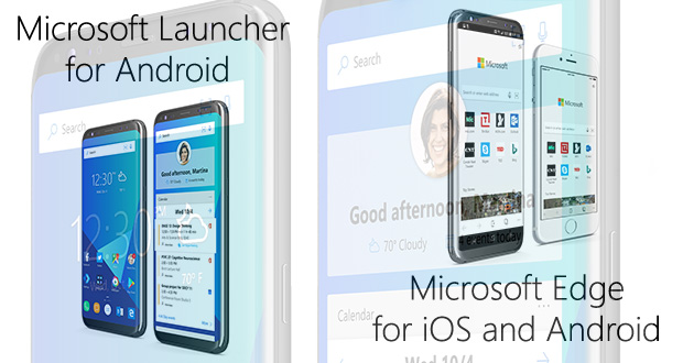 Microsoft Edge sous Android et iOS